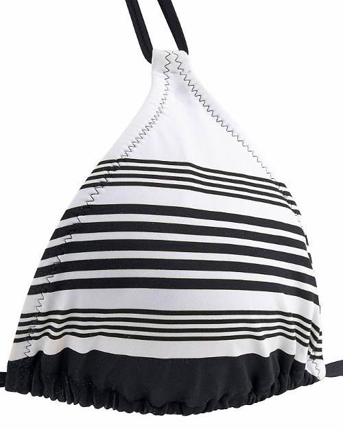Černo-bílé proužky na košíčcích