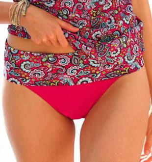 Plavkové stahující kalhotky s nastavitelnou výškou pasu