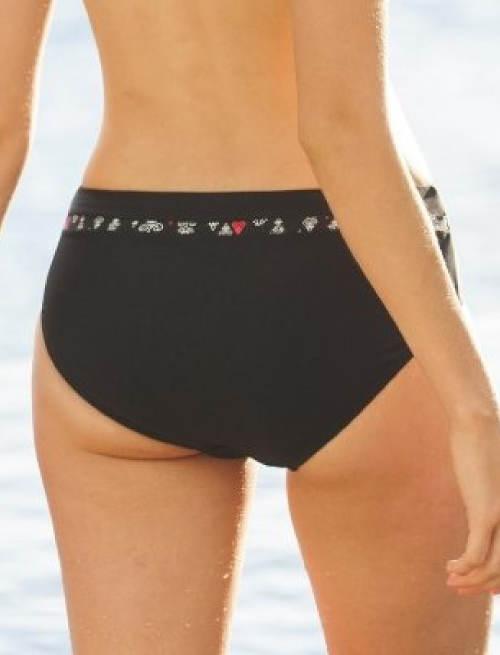 Černé stahovací plavkové kalhotky