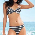 Černobílé dvoudílné plavky zebra