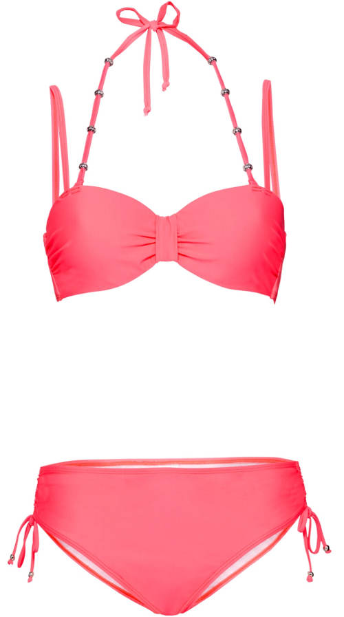 Růžové plavky s korálky