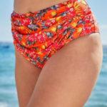 Oranžové plavkové kalhotky vyššího střihu