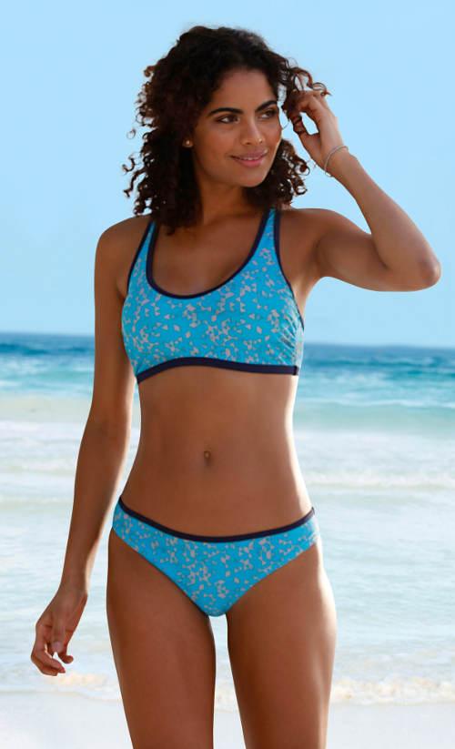 Sportovní dvoudílné plavky s elastickým podprsním pásem