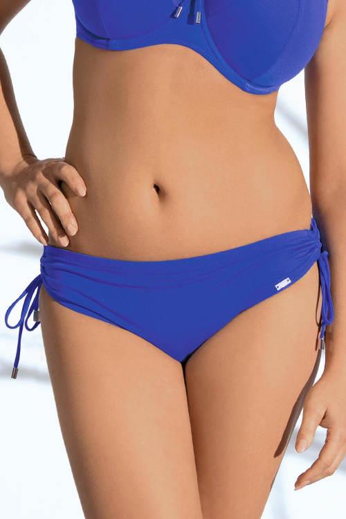 Modré dámské plavky s vyšším pasem