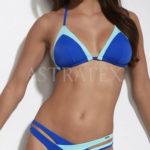 Modré sportovní dvudílné plavky Krisline