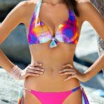Pestrobarevné plavky pushupka Ewlon Majorka
