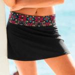 Plavková sukně s vysokým pasem na ohrnutí