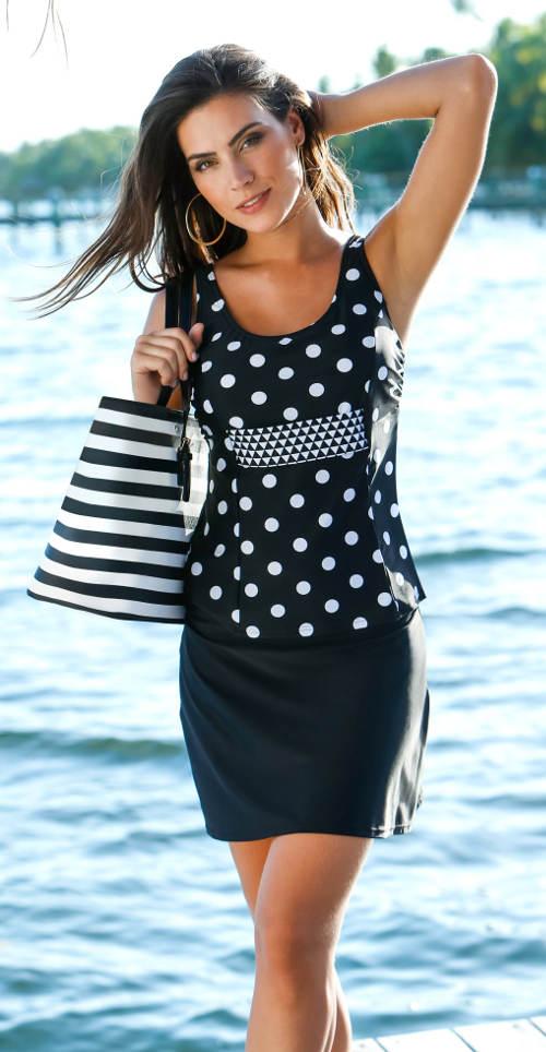 Delší plavková sukně