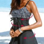 Stahovací koupací šaty