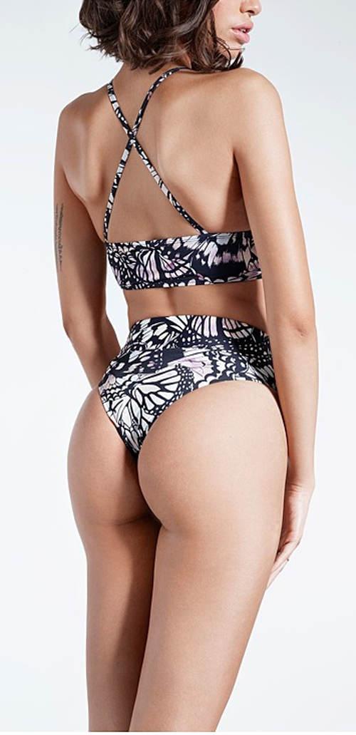 Brazilské plavkové kalhotky s vysokým pasem