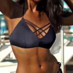 Dámské dvoudílné plavky Bora Bora Black se strappy pásky