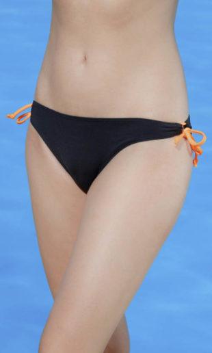 Nízké černé plavkové kalhotky Triola 96203