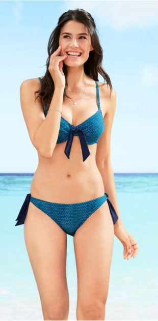 Pohodlné dámské plavky s nastavitelnými ramínky