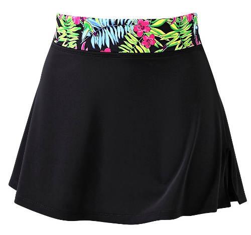 Černá koupací sukně s všitými kalhotkami