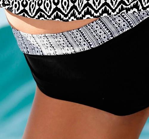 Černobílé formující plavkové kalhotky