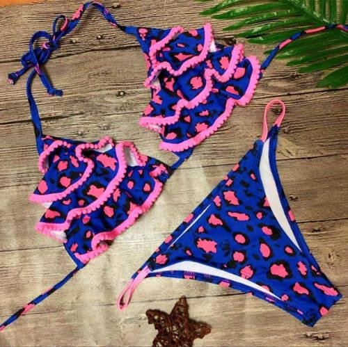 Modro-růžové bikiny