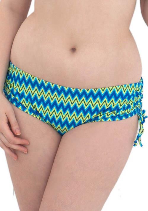 Dámské plavky šortkového střihu se stahovací tkaničkou
