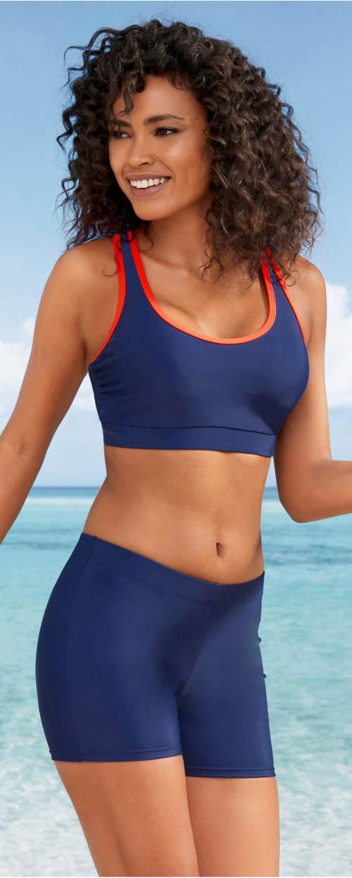 Sportovní dámské plavky s nohavičkovým spodním dílem