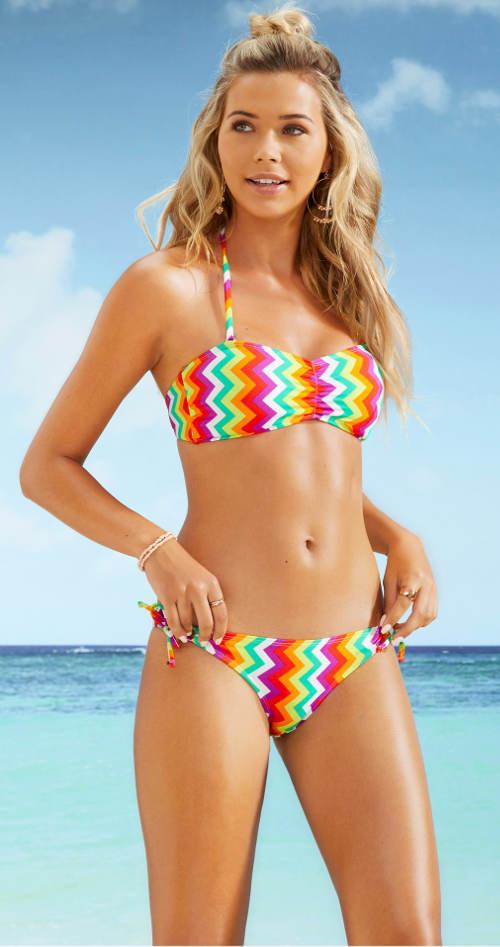 Dvoudílné bandeau plavky s odnímatelnými ramínky