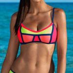 Neonové dvoudílné plavky Lorin Jenny 2019