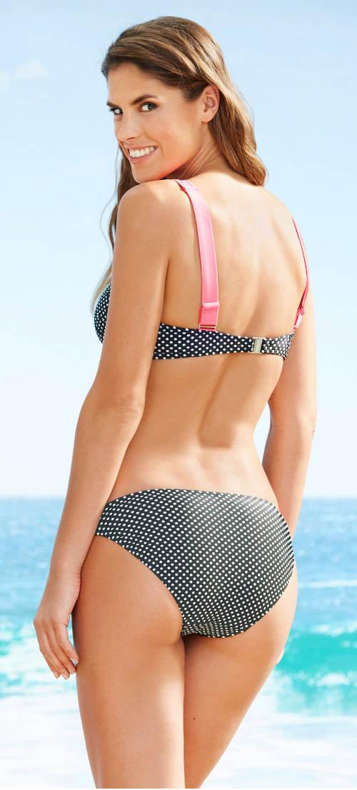 Puntíkaté Bonprix plavky na dovolenou