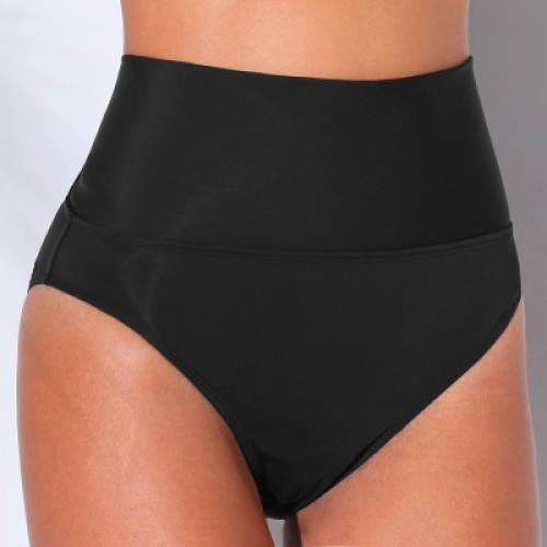 Vysoké černé plavkové kalhotky Blancheporte
