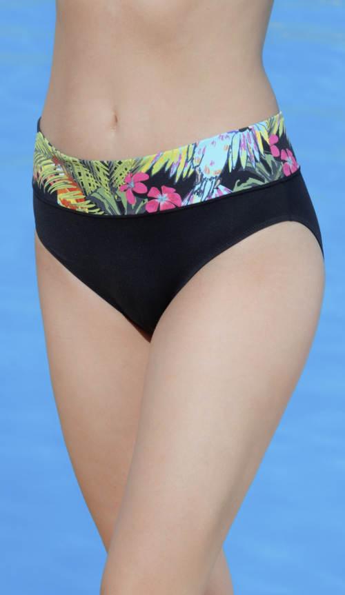 Vysoké květinové plavkové kalhotky Triola
