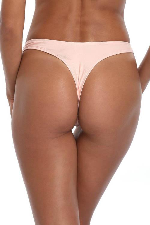 Broskvové plavkové tanga kalhotky