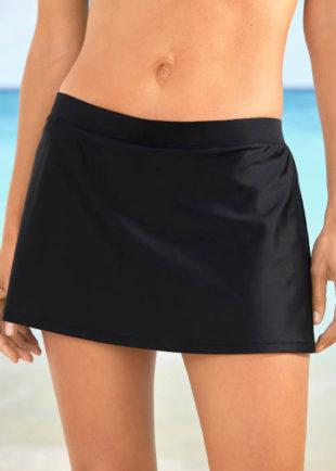 Dámská černá plavková sukně s všitými kalhotkami