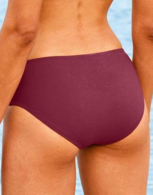 Fialové stahovací plavkové kalhotky