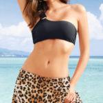 Koupací sukně s leopardím vzorem
