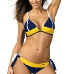 Modro-žluté dámské dvoudílné plavky Marko Agnes