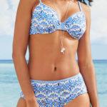 Plavky pro plnější tvary s kosticemi a vyšším pasem