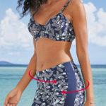 Stahovací nohavičkový spodní díl dvoudílných plavek