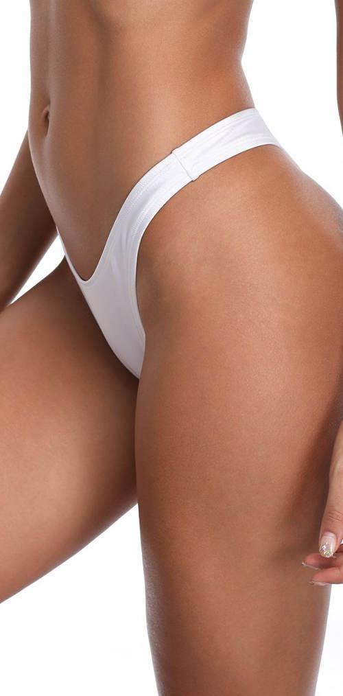 Tanga plavkové kalhotky bílé barvy