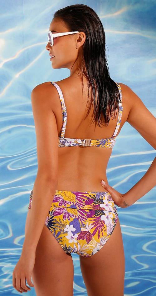 Květované dámské dvoudílné plavky pro starší