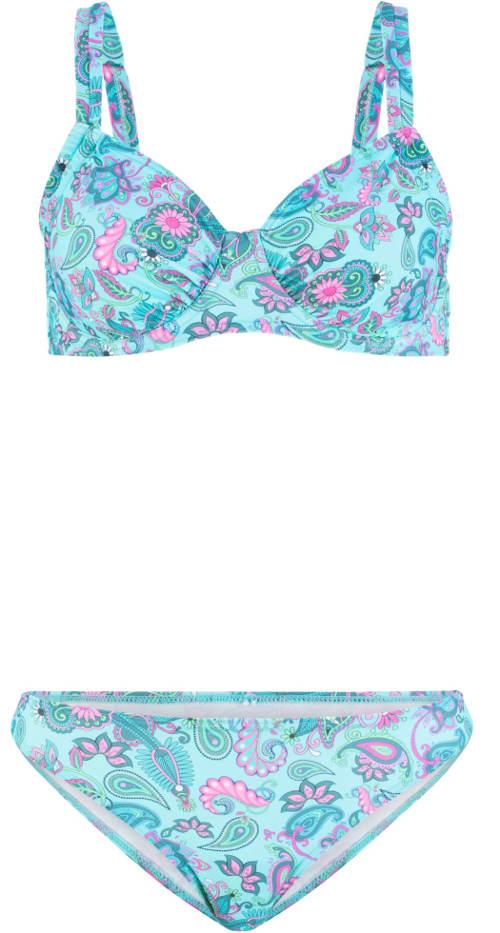 Vyztužené dvoudílné plavky pro větší prsa