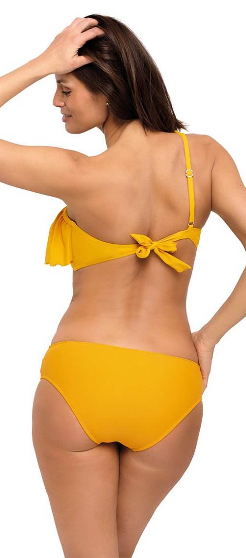 Žluté bikiny na jedno rameno