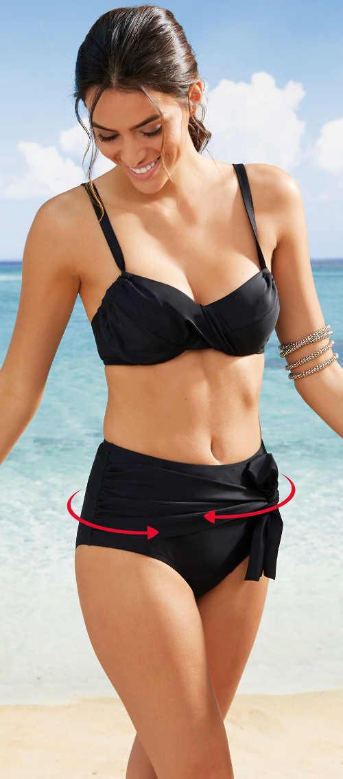 Plavky stahující a zakrývající nedokonalosti břicha