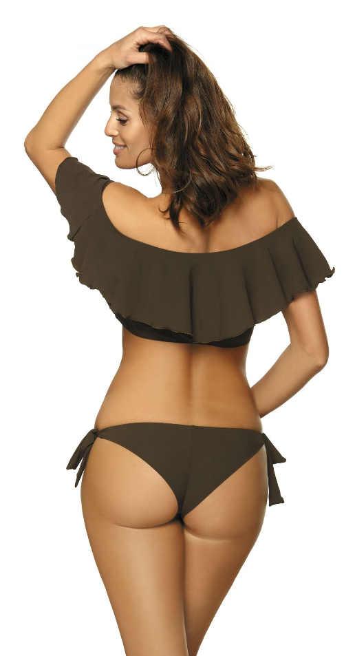 Brazilské khaki dámské dvoudílné plavky
