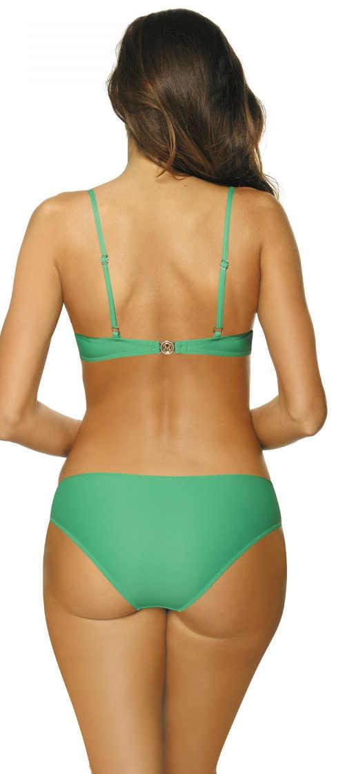 Levné zelené dámské dvoudílné plavky