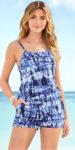 Batikovaný dámský plavkový overal