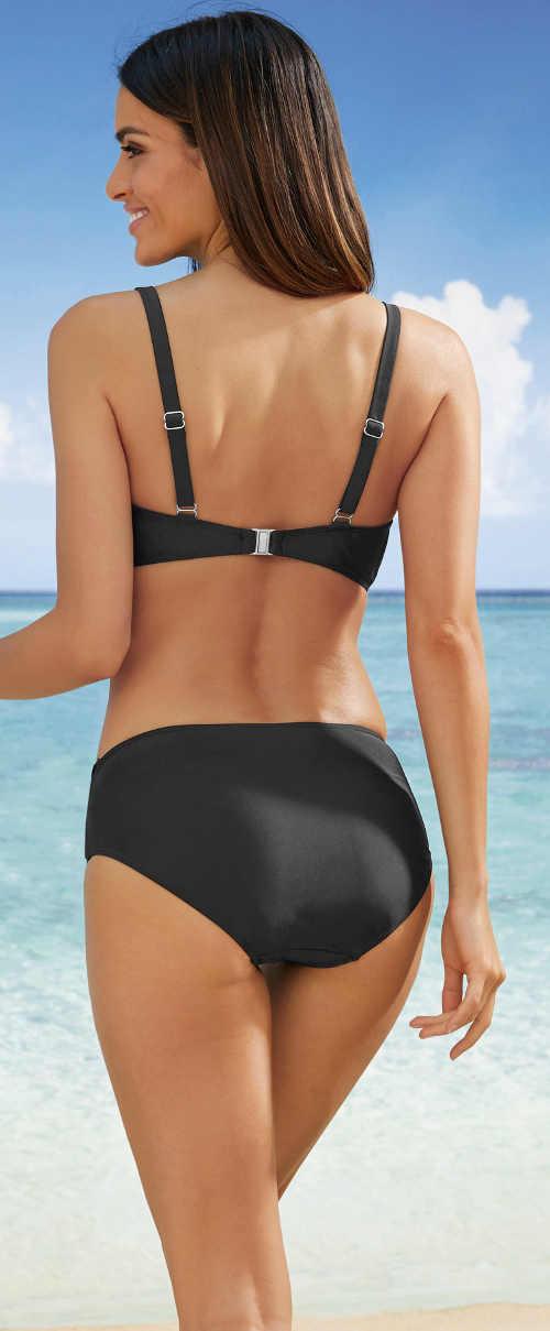 Černé jednobarevné dámské plavky výprodej