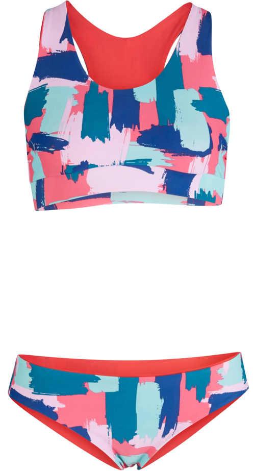 Sportovní dámské dvoudílné plavky s výrazným vzorem