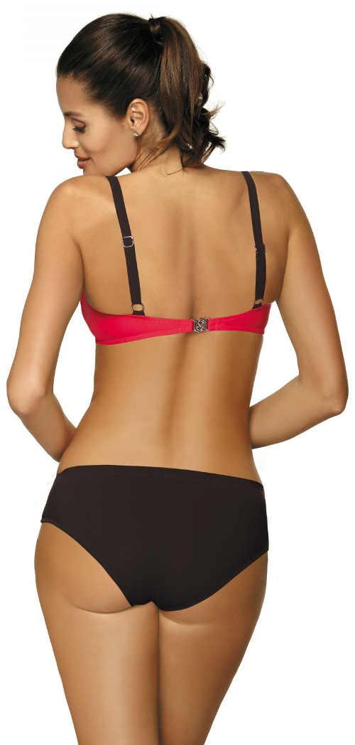Červeno černé dámské dvoudílné plavky