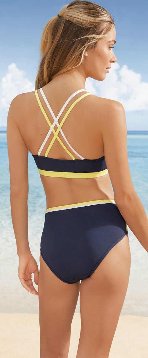 Sportovní dámské plavky k moři s překříženými ramínky