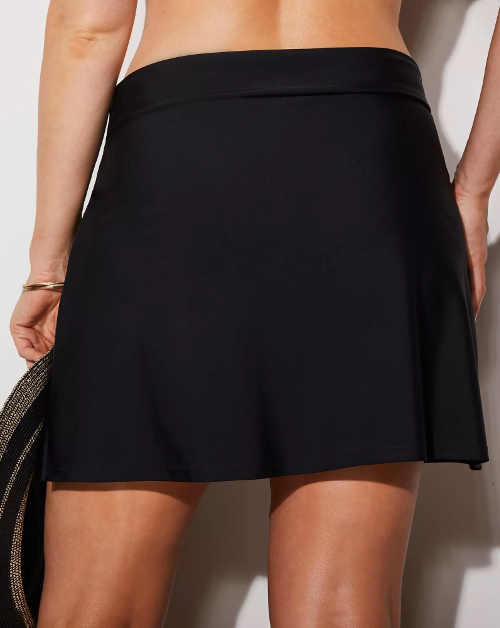 Černá dámská sukně s všitými plavkami