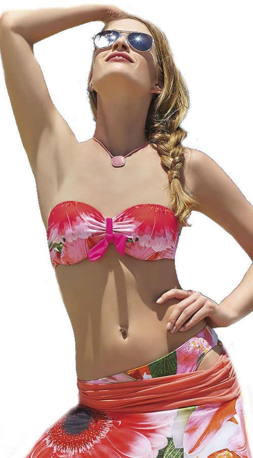 Dámské korzetové plavky Sunflair s květinovým vzorem
