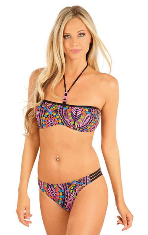Dámská plavková podprsenka bandeau v barevném designu