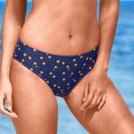 Moderní plavkové midi kalhotky s efektem plochého břicha